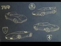 Classic cars as drawn by Carol